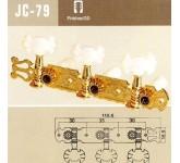 JINHO JC79G колковая механика, (3+3 планка),  д/кл. гитары, 35мм, ручка-бабочка, золото