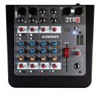 Allen&Heath ZED6 микшерный пульт. 2 микрофонных/линейных входа, 2 стереовхода, фильтр отсечки низких