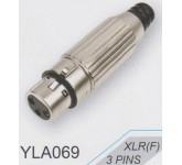 """AMPERO YLA069 XLRF разъём XLR кабельный """"мама"""" никелированный матовый. SWITCHCRAFT TYPE"""