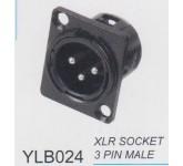 "AMPERO YLB024 XLRM разъём XLR панельный, ""папа"", чёрный."