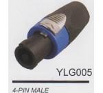 """AMPERO YLG005 разъём SPEAKON кабельный, """"папа"""", маркер: синий."""