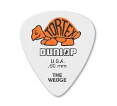 Dunlop 424P.60 Tortex Wedge медиаторы, толщина 0,60мм