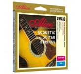 Alice AW432P-SL комплект струн для акустической гитары, медь, цветные наконечники, 11-52