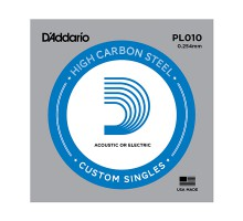 """D`Addario PL010 PLAIN STEEL отдельная стальная струна без обмотки 0.010"""""""