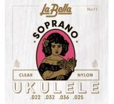 La Bella 11-SOPRANO комплект струн для укулеле сопрано, нейлон.