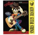 Alice A206-SL Super Light Струны для акустической гитары, 1 и 2 струны, 3,4,5,6 - керн из нержавеюще