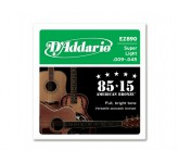 D`ADDARIO EZ-890 струны для акуст. гитары, бронза 85/15, Super Light 9-45