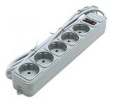 Gembird SPG3-B-5 сетевой фильтр, 5 розеток, 1.5м, серый [SPG3-B-5]