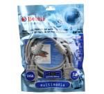 BELSIS BW1472 VGA/SVGA вилка - VGA/SVGA вилка, длина 3м, кабель (2 ферритовых кольца) BW1472