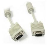 BELSIS BW1473 VGA/SVGA вилка - VGA/SVGA вилка, длина 5м, кабель (2 ферритовых кольца) BW1473