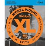 D`ADDARIO EXL-110 NICKEL WOUND струны для электро-гитары Regular Light 10-46