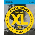 D`ADDARIO EXL-125 струны для электрогитары, Super Light/Regular, никель, 9-46 0902E