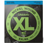 D`ADDARIO EXL-165 XL NICKEL WOUND струны для бас-гитары Long Regular Ligth Top Medium Bottom 45-105