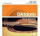 D`ADDARIO EZ-900 струны для акуст. гитары, бронза 85/15, Extra Light 10-50 52069