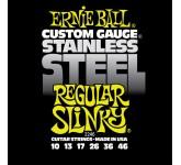 ERNIE BALL 2246 (10-13-17-26-36-46) Stainless steel струны для электрогитары. Обмотка: нержавеющая с