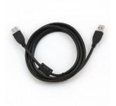 Gembird Pro кабель USB 2.0 AM-AF удлинитель 1.8м, ферритовые кольца [CCF-USB2-AMAF-6] 10898