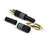 """INVOTONE RCA200M разъём RCA (тюльпан), кабельный, """"папа"""", позолоченые контакты"""