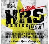 La Bella HRS-L Hard Rockin Steel Light струны для электро-гитары. 9-11-16-26w-36-46. Верхние струны-