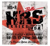 La Bella HRS-R Hard Rockin Steel Regular комплект струн для электро-гитары. 10-13-17-26w-36-46. Верх