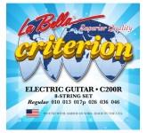 La Bella C200R  Criterion Regular 010-046 комплект струн для электро-гитары. Верхние струны - сталь,