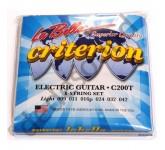 La Bella C200T Criterion Light 009-042 комплект струн для электро-гитары. Верхние струны - сталь, ба