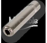 """MRC MRJ2203SF кабельный разъем 1/4"""" Jack 6.35 мм, 3-х контактный (стерео) <гнездо/мама>, металлическ"""
