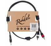 ROCKDALE XC-001-1M компонентный кабель, разъёмы stereo mini jack male (3,5 mm)<->2xRCA, 1 м, чёрный