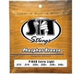 SIT P1048 PHOSPHOR BRONZE Extra Light струны для акустической гитары  (10-14-20-30-36-48) Экстра лег