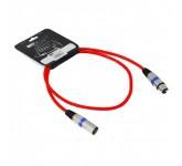 INVOTONE ACM1101R микрофонный кабель, XLR F<->XLR M длина 1 м, (красный) 442443, INVOTONE ACM1101R м